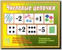 Числовые цепочки / Настольно-печатные дидактические игры в папке (Весна-Дизайн)