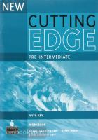 New Cutting Edge Pre-intermediate. Workbook + key (Pearson)