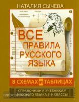 Все правила русского языка в схемах и таблицах. 5-9 классы (АСТ)